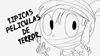 getlinkyoutube.com-TÍPICAS PELÍCULAS DE TERROR | DRAW MY WEEK