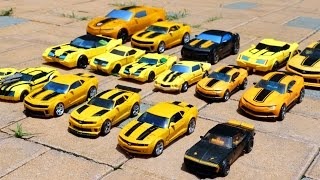 getlinkyoutube.com-Transformers Bumblebee 17 Vehicle Transformation Robot Car Toys 트랜스포머 범블비 17대 자동차 장난감 로봇 변신 동영상