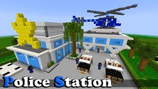 getlinkyoutube.com-Minecraft Police Station,From City Island 3