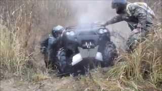 getlinkyoutube.com-KETURAČIAI   Polaris800 -Kawasakis750 -BRP650cm.