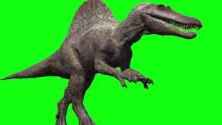 getlinkyoutube.com-Jurassic Park III Spinosaur green screen animation (Spino green screen dinosaurs 3D Studio max)