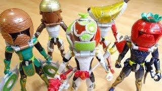 getlinkyoutube.com-全ライダーにメロンエナジーアームズを装着!ビートライダーズがユグドラシル化!?鎧武・バロン・龍玄・斬月・グリドン・レビュー!仮面ライダー鎧武(ガイム) 斬月・真