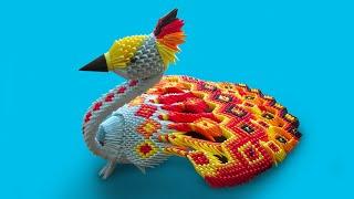 3D Origami Large Peacock Tutorial