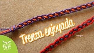 getlinkyoutube.com-Trenza Enjoyada // Pulsera macramé