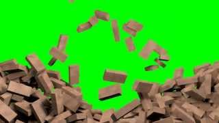 getlinkyoutube.com-Green Screen exploding wall, free footage for use in video editing software.