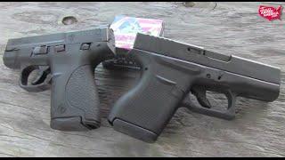 getlinkyoutube.com-Glock 43 or Smith & Wesson M&P Shield? Tough choice.