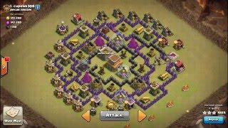 getlinkyoutube.com-TH7 vs TH8 Max War attack 3 Star - Hog Dragon