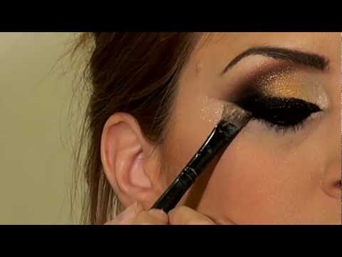 מריה מסלרסקי - איפור ערב Arabic Black & Gold Khaleeje makeup 2013