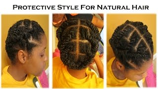 getlinkyoutube.com-(Day 21) Protective Styling for Natural Hair!