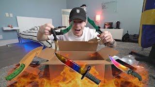 getlinkyoutube.com-REAL LIFE KNIFE UNBOXING! INSANE CS:GO KNIVES
