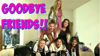 😭 SAD GOODBYES AT OUR SLEEPOVER!! 😭 MOVING VLOG DAY 3!!