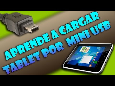 Cargar batería tablet por mini-USB - Easy Home Tablet 7 (Tu