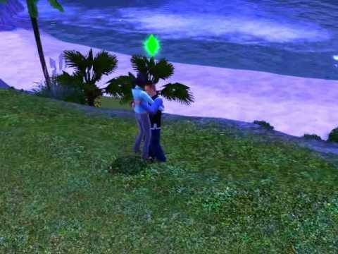 The sims 3 bacio molto strano...