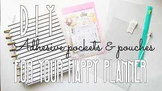 getlinkyoutube.com-DIY Adhesive Pockets & Pouches for Your Happy Planner
