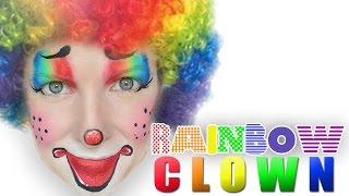 getlinkyoutube.com-EASY Clown Face Painting Makeup