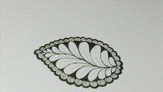 getlinkyoutube.com-Nature Zentangles: Leaf #2