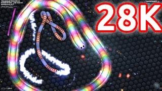 getlinkyoutube.com-28.000 HIGHSCORE IN SLITHER.IO!!! Agario 2.0 Gameplay (SlitherIO)