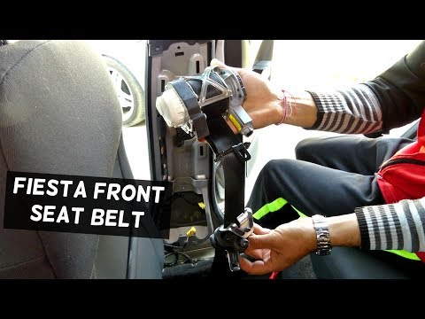 FORD FIESTA FRONT SEAT BELT REPLACEMENT REMOVAL PASSENGER ST MK7