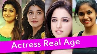 Top South Indian Actresses Real Age List | Heroines Real Age | Samantha, Nayanthara, Keerthi Suresh