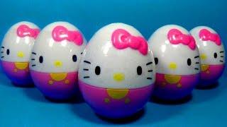 getlinkyoutube.com-HELLO KITTY surprise eggs! Unboxing 5 eggs surprise Hello Kitty for Kids for BABY MymillionTV