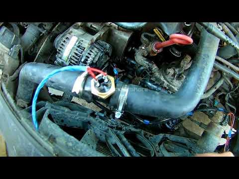VW Golf III не работает вентилятор охлаждения двигателя, сгорел блок управления