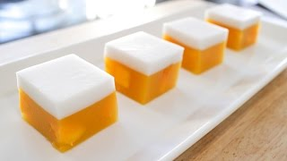 getlinkyoutube.com-Mango Coconut Jelly (Agar Agar) วุ้นมะม่วง - Hot Thai Kitchen
