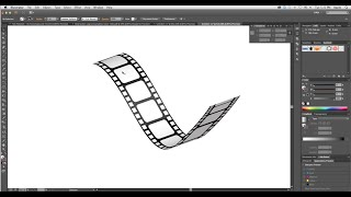 How to create 3D Film Strip in Adobe Illustrator- Simple