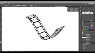 getlinkyoutube.com-How to create 3D Film Strip in Adobe Illustrator- Simple