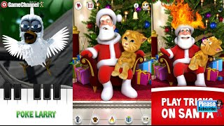 getlinkyoutube.com-Talking Larry the Bird Talking Santa meets Ginger Android İos Free Game GAMEPLAY VİDEO