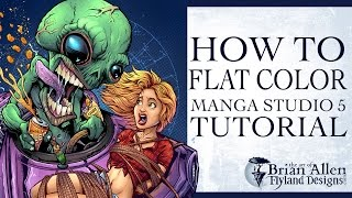 How To Flat Color In Manga Studio 5