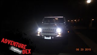 getlinkyoutube.com-Jeep Wrangler LED headlights by Auxbeam