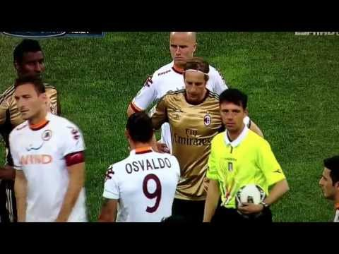 Roma fans chanting racist chants 12/5/2013