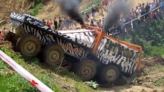 """getlinkyoutube.com-NEW! Truck trial Tatra 813 8x8 """"ZEBRA"""" - MUDFEST 2014"""
