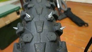 getlinkyoutube.com-Как сделать шипованную резину на велосипед