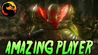 getlinkyoutube.com-Fighting Vs Amazing Player - Mortal Kombat X Reptile & Ermac Gameplay (MKX Online Ranked)