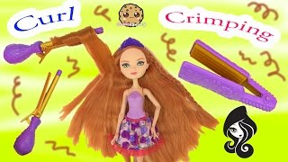 getlinkyoutube.com-Holly O'Hair Daughter of Rapunzel Curling Iron Crimping Tools Hairstyling Ever After High Doll