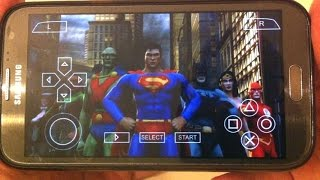 getlinkyoutube.com-[PPSSPP Emulator] Justice League Heroes for Sony PSP on Android Samsung Galaxy Note II