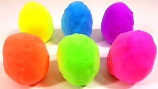 getlinkyoutube.com-Learn Colors in English with Putty Clay Surprise Eggs for Children