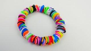 getlinkyoutube.com-How to make Loom Bands Circle Bracelet / Kreis Armband Anleitung Einfaches Tutorial | deutsch