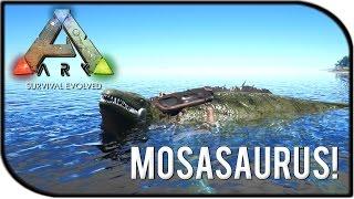 getlinkyoutube.com-ARK: Survival Evolved MOSASAURUS DEEP SEA MONSTER GAMEPLAY + BASE BUILDING SADDLE!