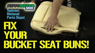 getlinkyoutube.com-Bucket Seat Covering Tips and Tricks Classic Car Ford Mustang Cougar Episode 186 Autorestomod