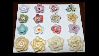 getlinkyoutube.com-Paper flowers using circles