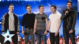 getlinkyoutube.com-Collabro sing Stars from Les Misérables | Britain's Got Talent 2014