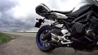 getlinkyoutube.com-IXIL FULL EXHAUST YAMAHA MT-09 Tracer ON THE ROAD IN/OUT DB-KILLERS