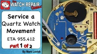 getlinkyoutube.com-How to service a quartz movement. ETA 955 412. Watch repair tutorials