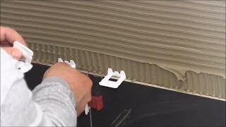 getlinkyoutube.com-Large format tile installation - Bathroom floor and wall - with new Leveling System