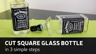 getlinkyoutube.com-DIY: Cut Square Glass Bottle In 3 Simple Steps