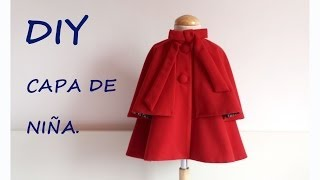 getlinkyoutube.com-Como hacer una Capa de niña. Do it yourself sewing children.