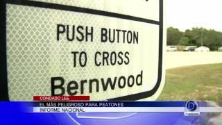 ¿Es el Condado Lee peligroso para los peatones?