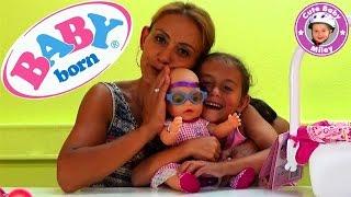 getlinkyoutube.com-Baby Born Interactive Puppe Zapf Creation - Produktvorstellung Test Review - Kinderkanal